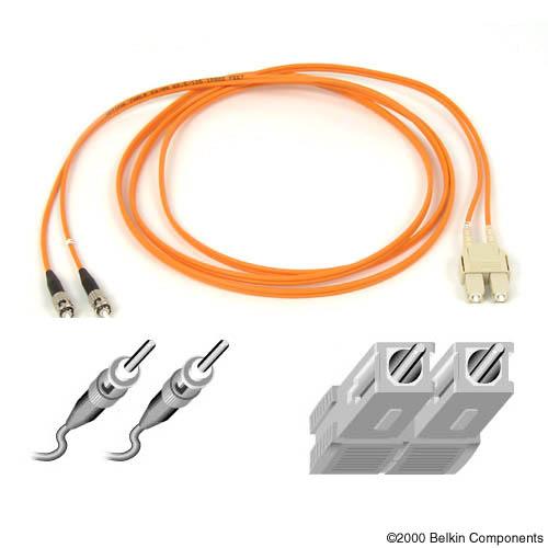Belkin Duplex FiberOptic Cable ST to SC connect 7.6m