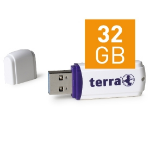 Wortmann AG TERRA USThree USB3.0 32GB 80/20 32GB USB 3.0 (3.1 Gen 1) Type-A White USB flash drive