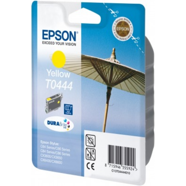 Epson C13T04444010 (T0444) Ink cartridge yellow, 420 pages @ 5% coverage, 13ml