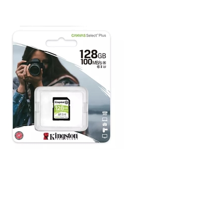 Kingston Technology Canvas Select Plus  V30 128GB SD Class 10 UHS-I U3 Flash Card