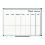 Bi-Office Magnetic Black and White Week Planner 60x40cm DD