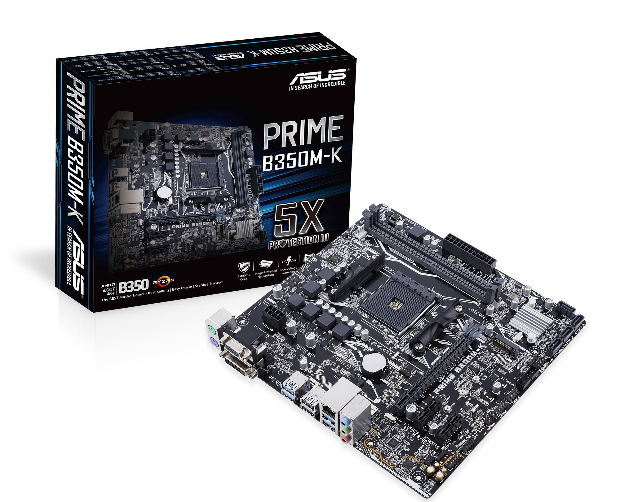 ASUS B350M-K AMD B350 Socket AM4 microATX motherboard