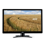 "Acer G6 G246HLF LED display 61 cm (24"") Full HD Black"