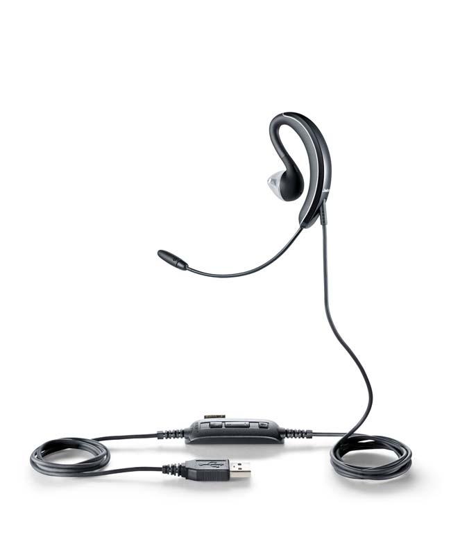 Jabra UC VOICE 250 Monaural Ear-hook,In-ear Black headset