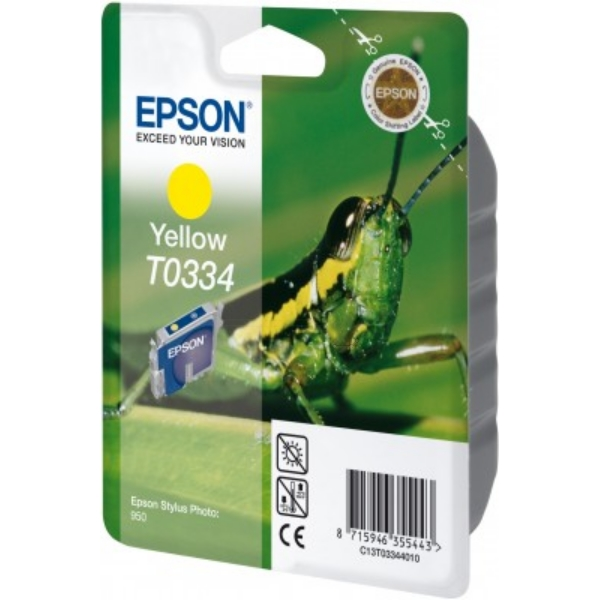 Epson C13T03344020 (T0334) Ink cartridge yellow, 440 pages, 17ml