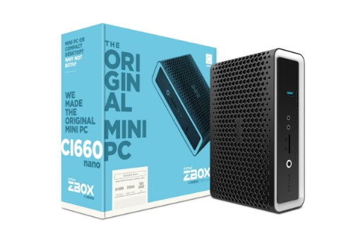 Zotac ZBOX CI660 nano i7-8550U 1.80 GHz SFF Black BGA 1356