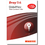 Draytek GlobalView Web Filtering - 12 months, Group A products , Physical Card - For Vigor 28xx and 29xx ser