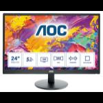 """AOC M2470SWH LED display 61 cm (24"""") 1920 x 1080 pixels Full HD Black"""
