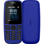 "Nokia 105 4,5 cm (1.77"") 73,02 g Blauw Basistelefoon"