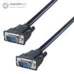 CONNEkT Gear 15m VGA Monitor Connector Cable - Male to Male - Fully Wired + Ferrite Cores