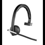Logitech H820e Monaural Head-band Black headset 981-000512