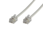 Microconnect RJ12/RJ12 2m 2m White telephony cable
