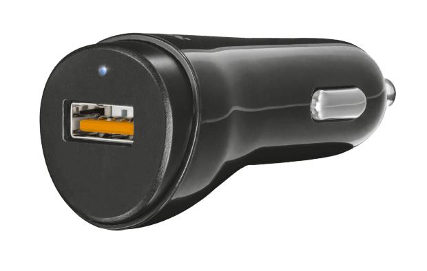 Trust 21819 cargador de dispositivo móvil Auto Negro