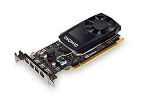 Graphic Card NVIDIA Quadro P1000 4GB GDDR5 Mini DP x 4 with Low Profile Bracket