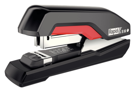 Rapid S50 Black, Red Flat clinch