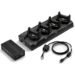 Zebra 4-Slot Ethernet Charge Cradle Kit Negro Cargador de baterías para interior