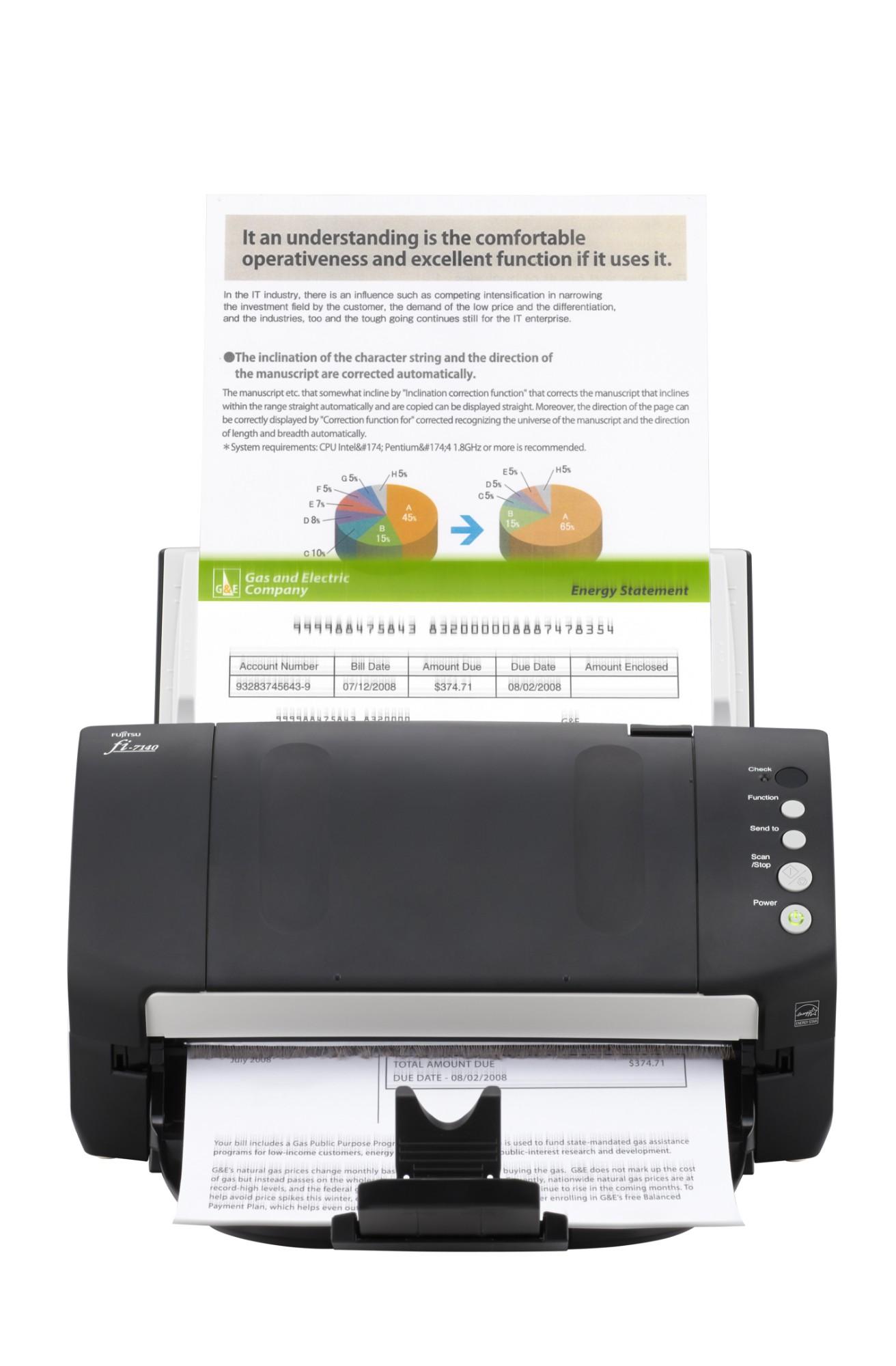 Fujitsu fi-7140 ADF scanner 600 x 600DPI A4 Black,White