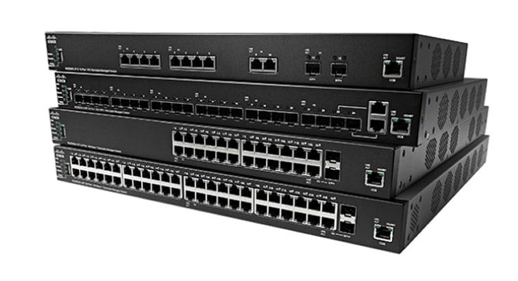 Cisco SX350X-08-K9-EU switch Gestionado L2/L3 10G Ethernet (100/1000/10000) Negro