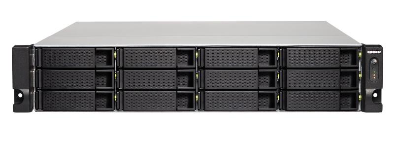 QNAP TS-1231XU NAS Rack (2U) Ethernet LAN Aluminium, Black  TS-1231XU-4G/144TB-GOLD