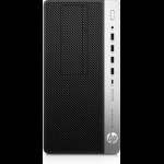 HP EliteDesk 705 G4 AMD Ryzen 5 2400G 8 GB DDR4-SDRAM 256 GB SSD Black,Silver Micro Tower PC