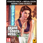 Rockstar Games Grand Theft Auto V Criminal Enterprise Starter Pack and Megalodon Shark Card Videospiel PC Basic+Add-on