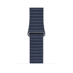 Apple MGXC3ZM/A smartwatch accessory Band Blau Leder