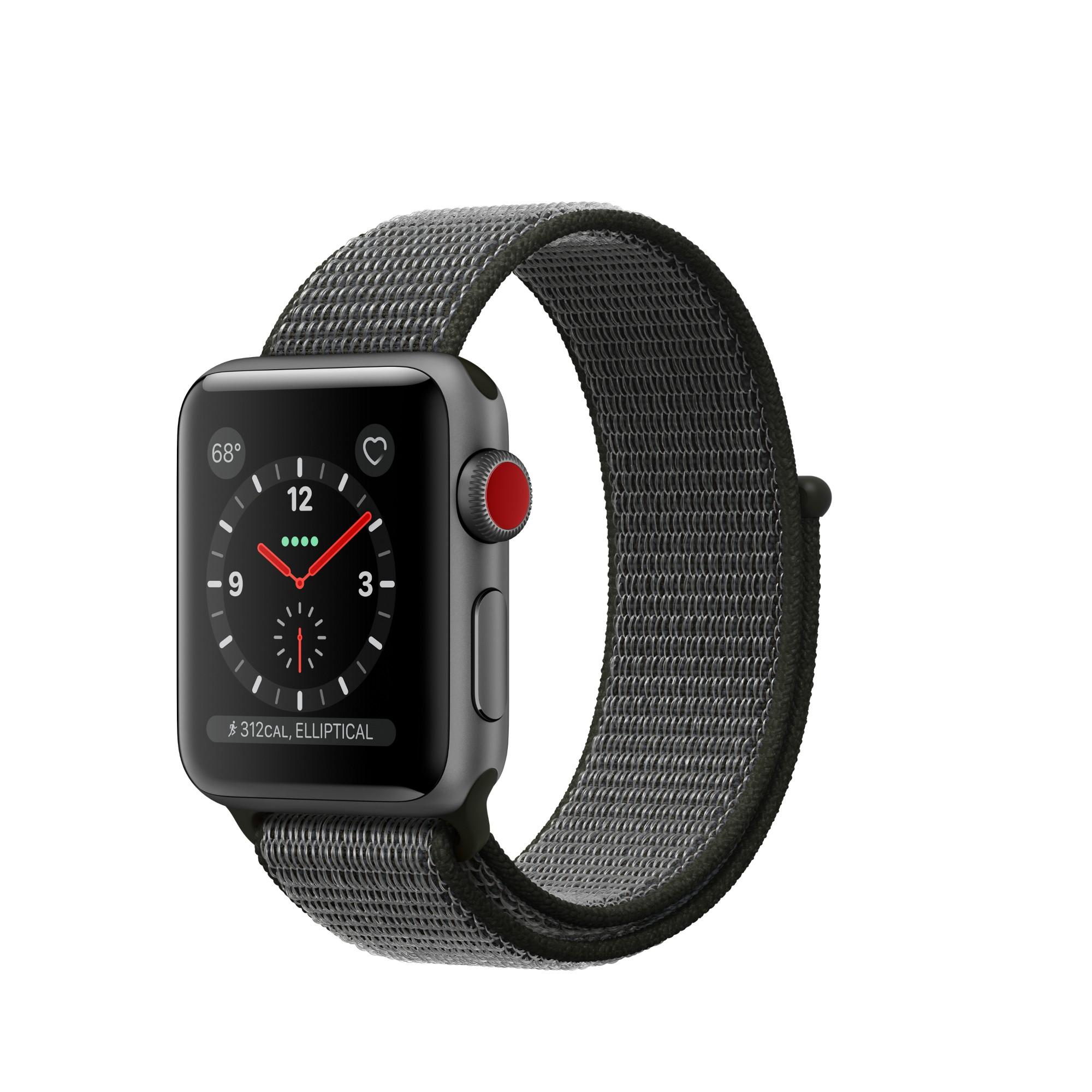 72031d73b1436 Apple Watch Series 3 smartwatch Grey OLED Cellular GPS (satellite) -  MQKK2B A