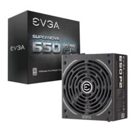 EVGA 220-P2-0650-X3 power supply unit 650 W 24-pin ATX ATX Black