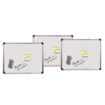 Value Magnetic Drywipe Boards 280x430mm Silver with Chrome