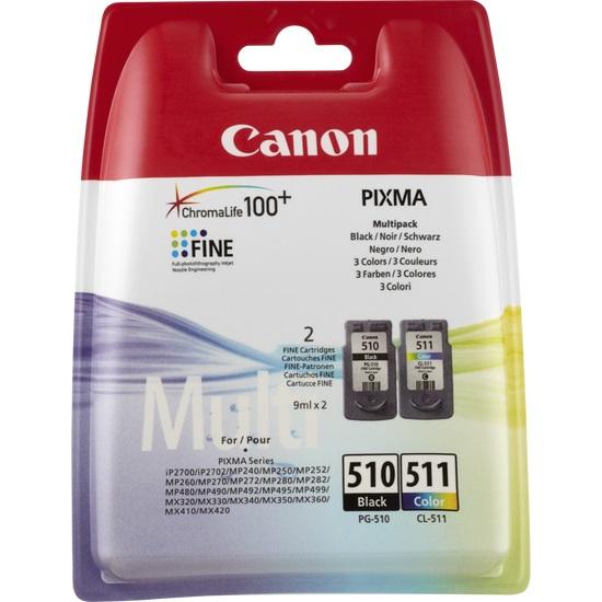 Canon PG-510 / CL-511 inktcartridge Zwart, Cyaan, Magenta, Geel