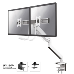 """Newstar NM-D775DXWHITE flat panel desk mount 81.3 cm (32"""") Clamp White"""