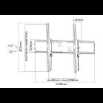 """Newstar LFD-W2000 100"""" Black flat panel wall mount"""