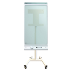 "Newstar NS-SKM300WHITE 42"" Portable flat panel floor stand Wit flat panel vloer standaard"