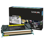 Lexmark X748H1YG Toner yellow, 10K pages