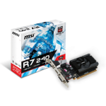 MSI V809-2846R graphics card Radeon R7 240 1 GB GDDR3