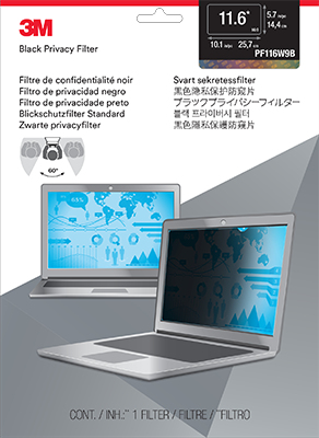 "3M 11.6"" Widescreen Laptop Privacy Filter"