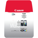 Canon 3713C006 (PG-560 CL 561) Ink cartridge multi pack, 7,5ml + 8,3ml, Pack qty 2