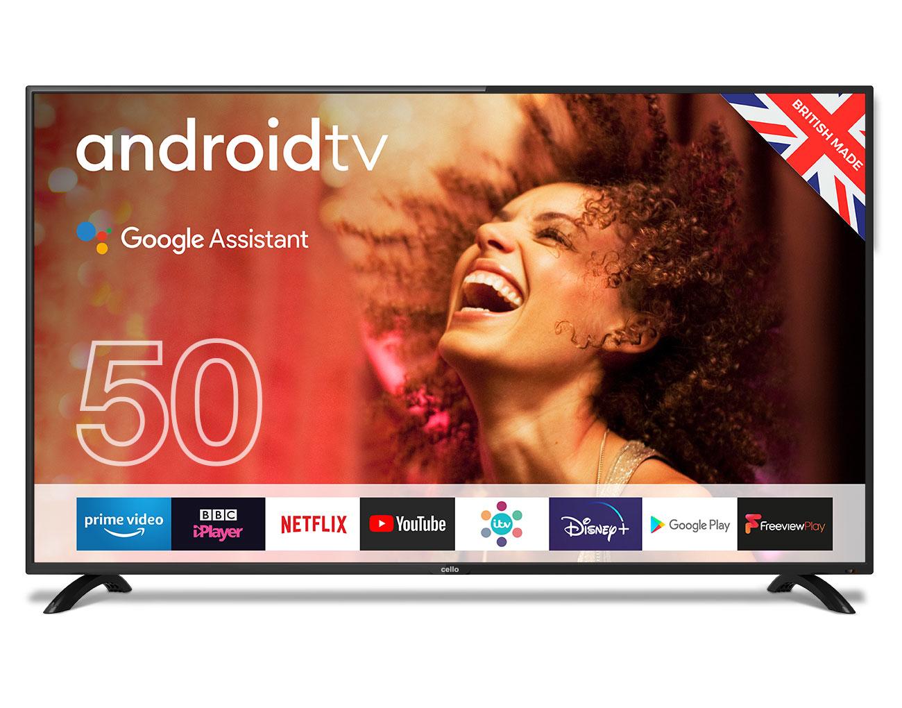 """Cello C5020G TV 127 cm (50"""") Full HD Smart TV Black"""