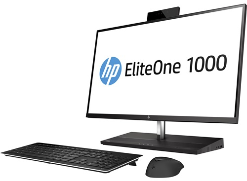 "HP EliteOne 1000 G2 68,6 cm (27"") 3840 x 2160 Pixels 3 GHz Intel® 8ste generatie Core™ i5 i5-8500 Zwart Alles-in-één-pc"