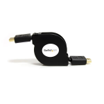 StarTech.com 4ft Retractable High Speed HDMI Cable -HDMI to HDMI Micro - M/M