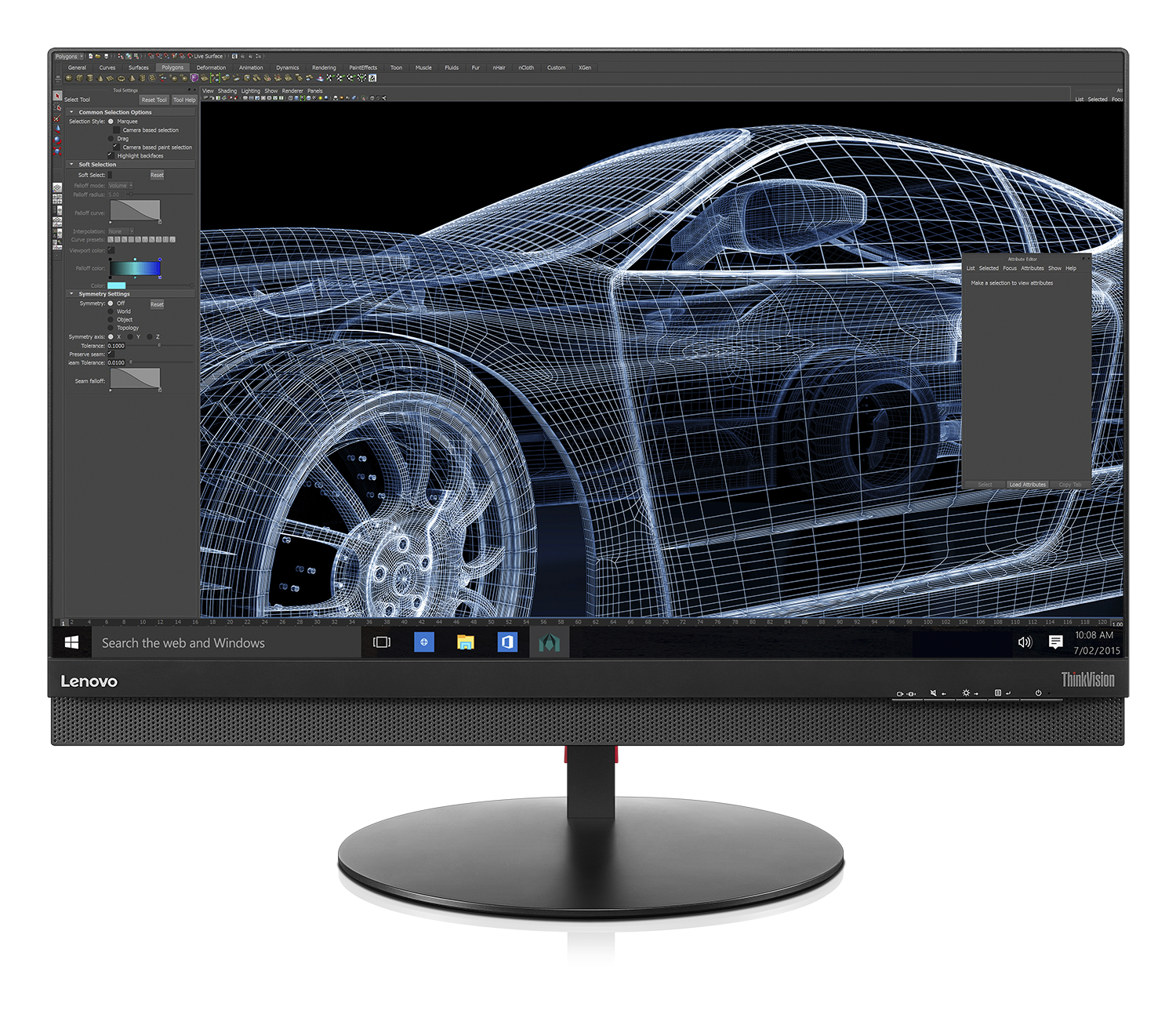 "Lenovo ThinkVision P27 27"" 4K Ultra HD IPS Black computer monitor"
