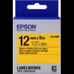 Epson C53S654008 Zwart op geel labelprinter-tape