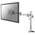 """Newstar Full Motion Desk Mount (grommet) for 10-30"""" Monitor Screen, Height Adjustable - Silver"""