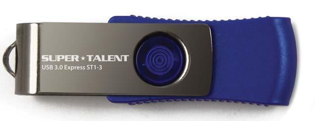 Super Talent Technology ST3U16S13 16GB USB 3.0 (3.1 Gen 1) Type-A Blue,Silver USB flash drive