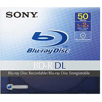 Sony BNR50AV Blu-ray Recordable Media - BD-R DL - 2x - 50 GB - 1 Pack