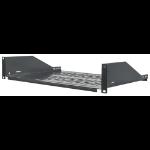 "Intellinet 19"" Cantilever Shelf, 2U, Fixed, Depth 350mm, Black."