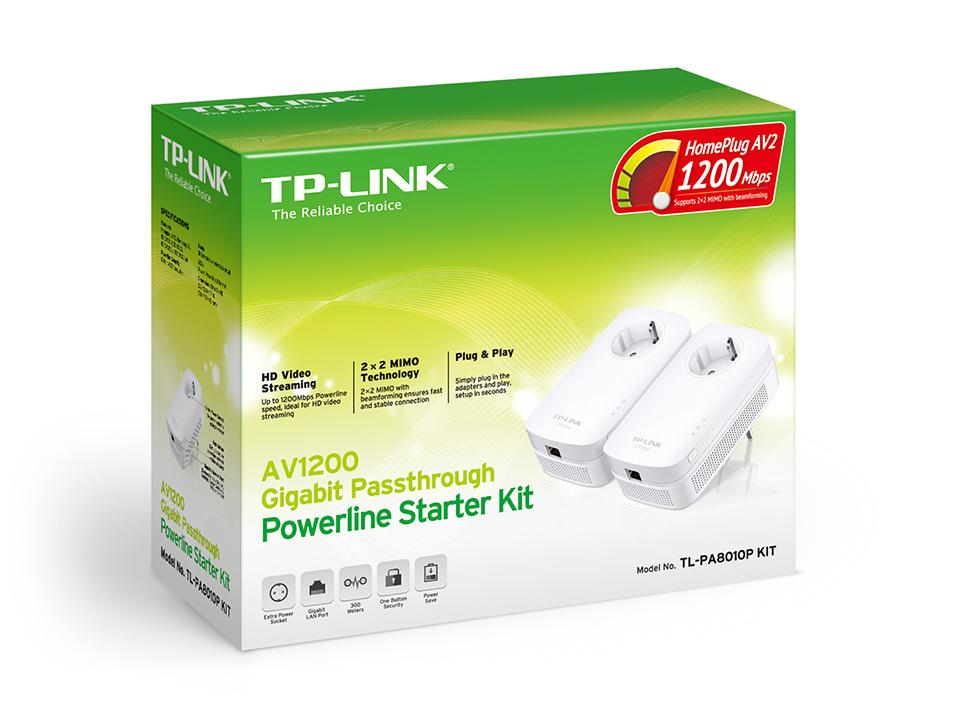 TP-LINK AV1200 1200Mbit/s Ethernet LAN White 2pc(s) PowerLine network adapter