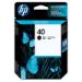 HP Ink cartridge no.40 black 42ml