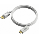 Vision DisplayPort - HDMI, 3m DisplayPort HDMI White cable interface/gender adapter