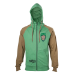 Marvel Guardians of the Galaxy Vol. 2 Men's Groot Full Length Zipper Hoodie, Large, Green/Tan (HD571041GOG-